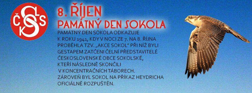 8. říjen - Památný den Sokola