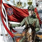 Legionář s legionářským praporem