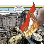 Hořící vlajka Rakousko-Uherska