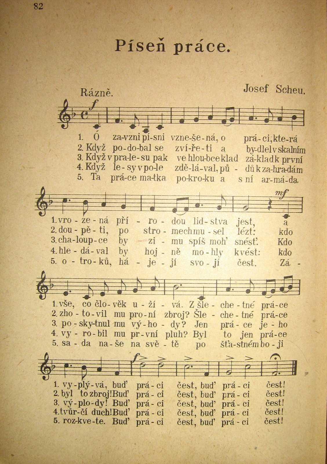 Ze Zpěvníku pro školy obecné (1922)
