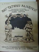 Náš tatíčku Masaryku - titulní stránka výtisku pro zpěv a klavír
