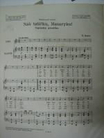 Náš tatíčku Masaryku - první stránka výtisku pro zpěv a klavír