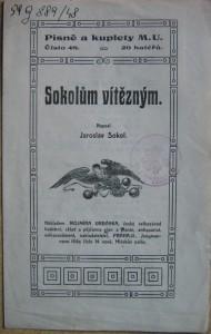 Sokolům vítězným, výtisk z Národní knihovny ČR