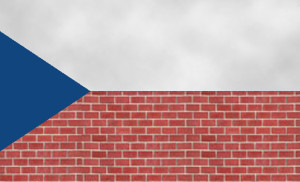 Vlajku si lze zapamatovat i jako zeď a nad ní nebe.