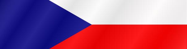Česká vlajka zvlněná