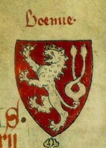 První barevné vyobrazení českého lva (počátek 14. století)
