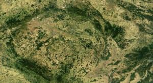 Satelitní snímek ČR, zdroj: Wikipedia