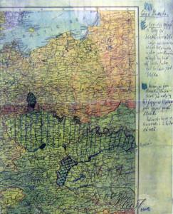 Lužice na náčrtku T.G. Masaryka při navrhování hranic ČSR