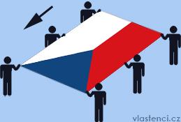 Takto se má nosit česká vlajka.