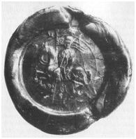Jezdecká pečeť z roku 1192