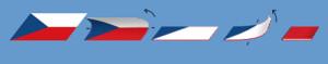 Balení české vlajky.