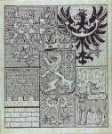 Znak Zemí Koruny České (19. století) - orlice dole uprostřed je orlice Horního Slezska.